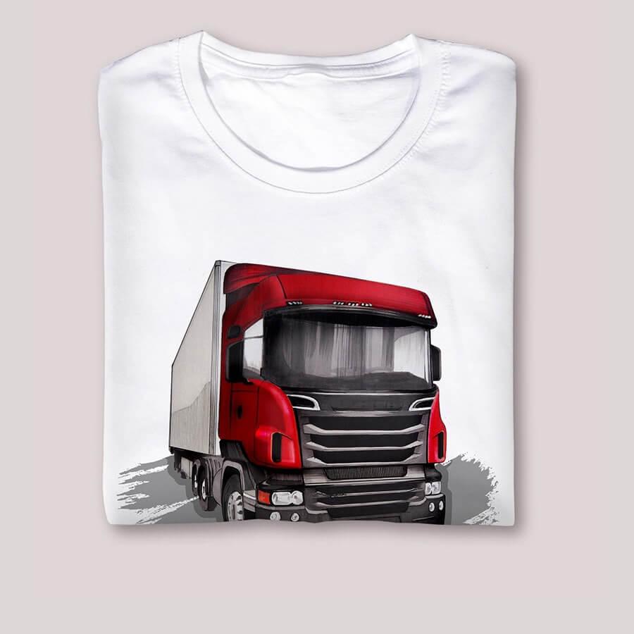 Koszulka z motywem ciężarówki